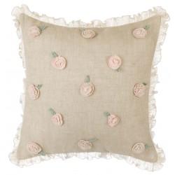 Cuscini cushion with flowers and ruffle 45 x 45 cm