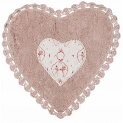 Tapis coeur Tappeti avec dentelle au crochet 1300 gsm