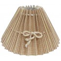 Beige round lampshade with small squares Ø 35 cm with knot link