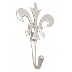 Silver lily flower hook