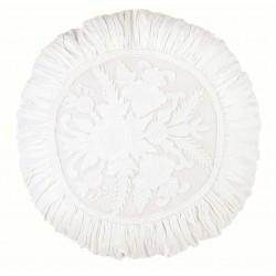 Coussin rond blanc brodé Ø 45 cm Romantic atmosphere