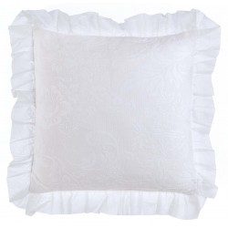 White cushion with ruffles 45 x 45 cm Romantic Atmosphere