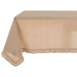 """Tablecloth with small ruffles """"Bicolor"""" 150 x 240 cm"""