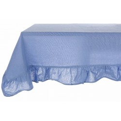 "Tablecloth with small ruffles ""Bicolor"" 150 x 240 cm"