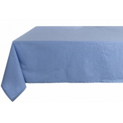 """Infinity Celeste"" coated cotton tablecloth 150 x 220 cm"