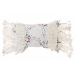 Ruffled cushion Ivory Romantic atmosphere 30 x 60 cm