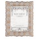 Photo frame to pose Cavaliere della rosa 23,2 x 18,1 cm light gray and gold