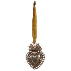 Duo of hanging decorative hearts from the Ex Voto collection