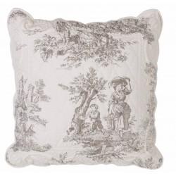 """""""Toile de Jouy"""" cushion 45 x 45 cm"""