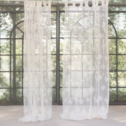 White Botteghino curtain 150 x 300 cm with loops