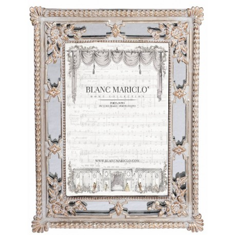 Photo frame to pose Cavaliere della rosa 22,1 x 17,2 cm light gray and gold