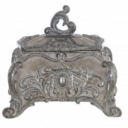 Coffret décoratif sur pieds gris Cavaliere della rosa
