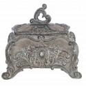 Gray decorative box Cavaliere della rosa