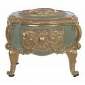 Green and gold decorative box on feet Cavaliere della rosa