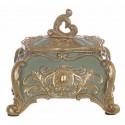 Green and gold decorative box Cavaliere della rosa