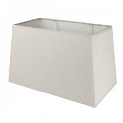 Abat-jour rectangulaire en lin couleur taupe 40,5 x 30,5 cm