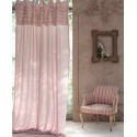Eterna pink curtain with ruffles and ties 150 x 290 cm