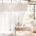 """""""Mariegold"""" curtain in embroidered linen 150 x 290 cm with knots"""