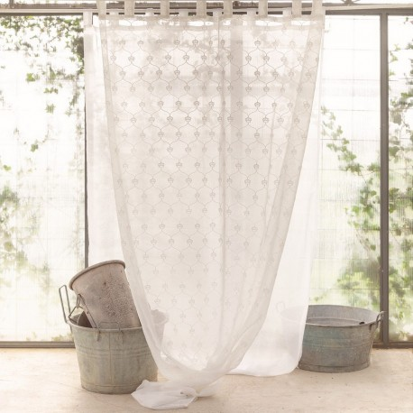 """White """"Small King"""" curtain 140 x 290 cm with loops"""