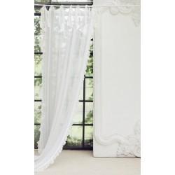 """Rideau """"Eterea"""" ivoire en lin 150 x 300 cm à nouettes"""