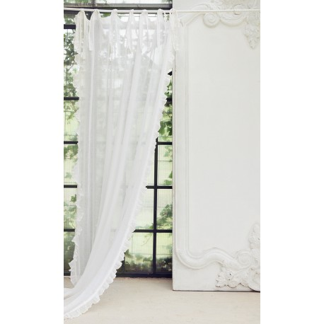 """Curtain """"Eterea"""" ivory 150 x 300 cm with knots"""