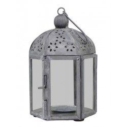 Lanterne avec motif hexagonal