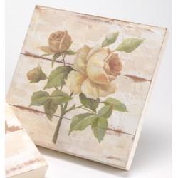 """Toile motif rose Manon """"classique"""""""