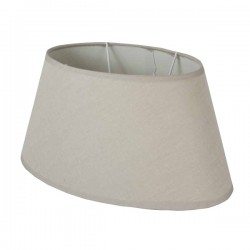 Beige oval linen lampshade 25 x 16