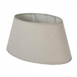 Beige oval linen lampshade 35 x 22 cm