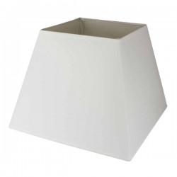 Abat-jour carré en coton blanc 35,5 x 35,5 cm
