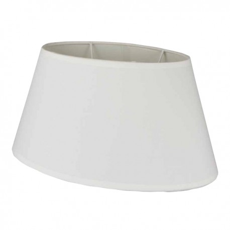 White oval cotton lampshade 35 x 22 cm