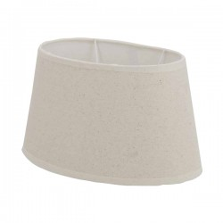Abat-jour oval en lin couleur beige 35 x 22 cm