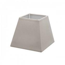 Abat-jour carré en lin couleur taupe 15,5 x 15,5 cm