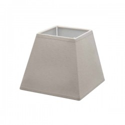 Taupe linen square lampshade 25,5 x 25,5 cm