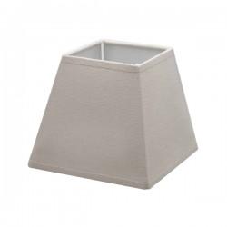 Abat-jour carré en lin couleur taupe 25,5 x 25,5 cm