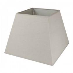 Abat-jour carré en lin couleur taupe 20,5 x 20,5 cm
