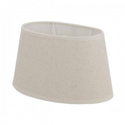 White oval cotton lampshade 25 x 16 cm