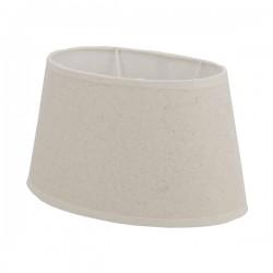 Abat-jour oval en lin crème 35 x 22 cm