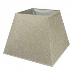 Camel linen square lampshade 30,5 x 30,5 cm