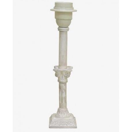 27.7 cm white column lamp base