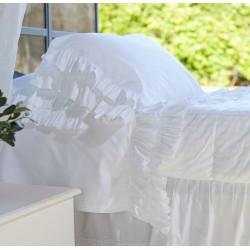 """Set de lit Blanc et taies d'oreiller """"Ruffle"""""""