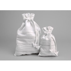Set de 2 sacs lingerie blanc Secret