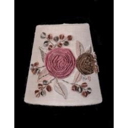 Round Lampshade Fleur de Ruban - Diam 10 cm