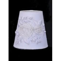 Abat jour Fleur de Ruban blanc - Diam 10 cm
