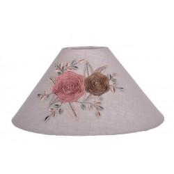 Round Lampshade Fleur de Ruban Rose - Diam 25 cm