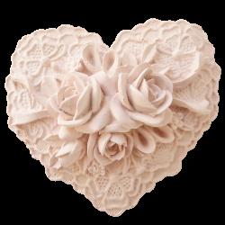 Cœur rose et dentelle à parfumer