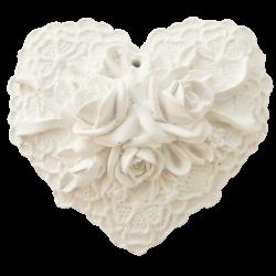 Cœur blanc et dentelle à parfumer
