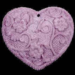 Cœur tricoté à parfumer Mauve brut