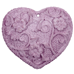 Heart knitted perfume plain purple