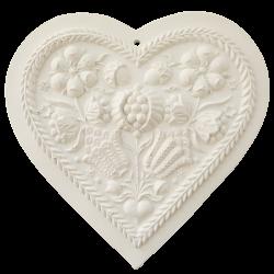 Grand Alsatian plain white heart to perfume